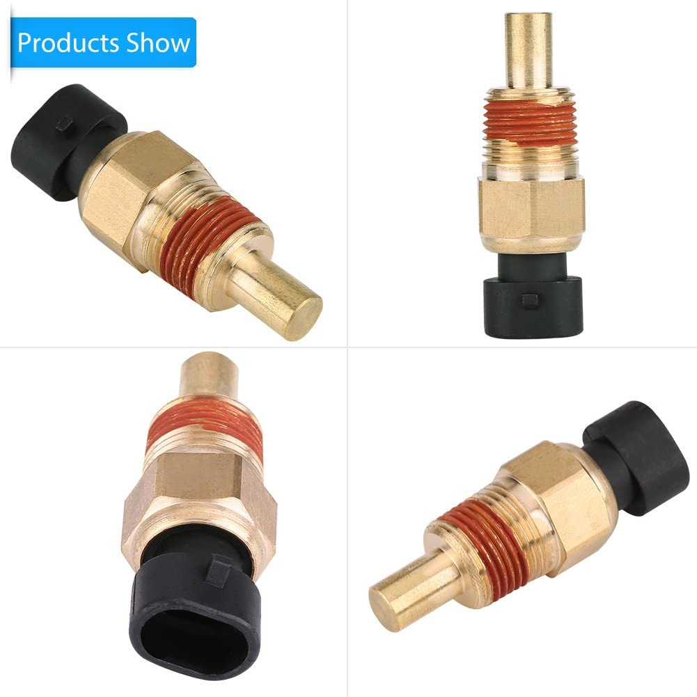 Qiilu Engine Coolant Temperature Sensor for GMC Chevrolet Buick Cadillac Jeep Isuzu TX3 05744030 1004
