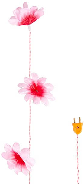 Tucasa DW-260-11 Daffodil Flower String Light (Pink/White) Specialty Lighting at amazon