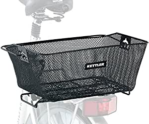 Kettler Bicycle Accessory: Detachable Rear Mounted Metal Wire Bike Basket with Carrying Handle