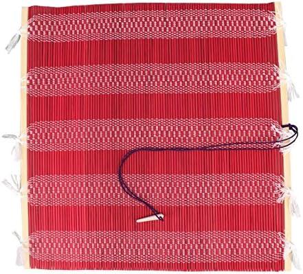 INKSTON Rolle Bambus Pinseletui Rot M