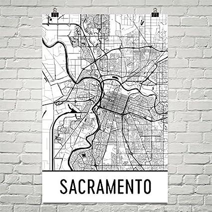 Amazon.com: Sacramento Poster, Sacramento Art Print, Sacramento Wall ...