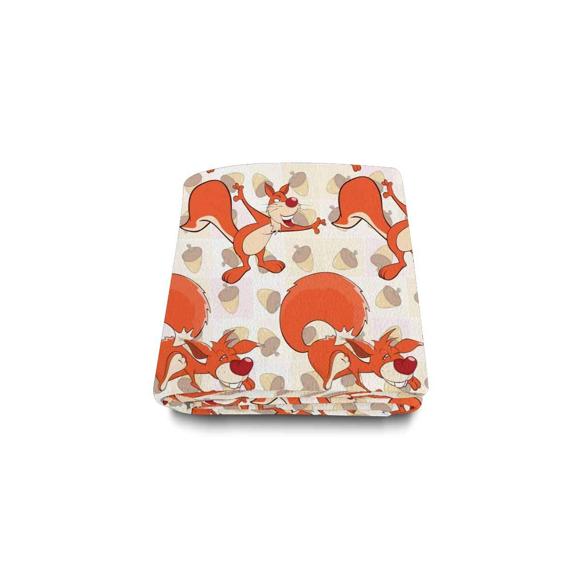 Amazon.com: INTERESTPRINT Cute Squirrels Fleece Luxury ...