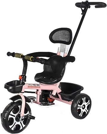 Sombrillas Cochecitos Cochecitos Tres ruedas Bicicleta plegable Bicicleta para niños 1-5 años Cochecito de bebé Niño y niña, Cinturón de seguridad, Cesta de almacenamiento (102 * 96Cm),Rosado: Amazon.es: Hogar
