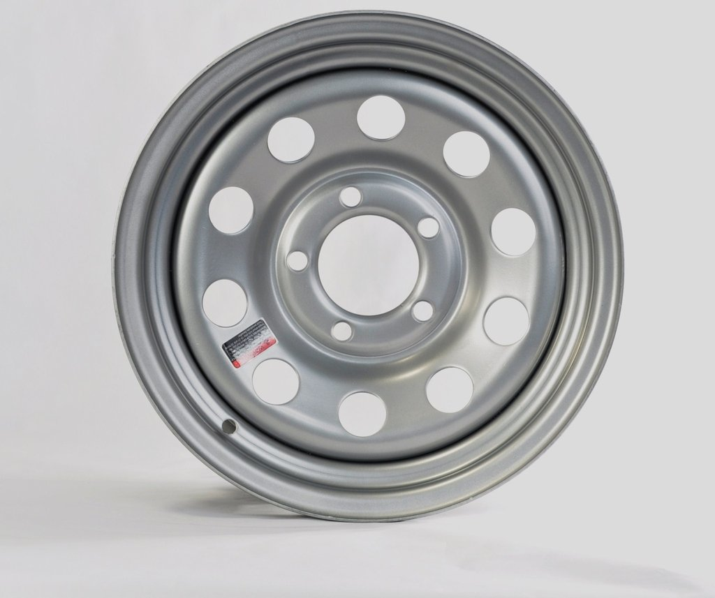 eCustomRim Trailer Rim Wheel 15 in. 15X6 5 Lug Bolt Wheel Gray Grey Modular Design Holes
