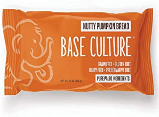 product image for Paleo Bread, Nutty Pumpkin, Large, 100% Gluten Free Bread and Paleo Certified, 4g of Protein per Loaf, Crafted by Base Culture (6 Count)