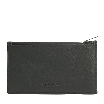 2f4e0a99682617 Amazon   コーチ COACH 財布 メンズコインケース メンズ アウトレット レザー シンプル カード ジップ F29272 BLK  ブラック コーチ COACH メンズ   財布