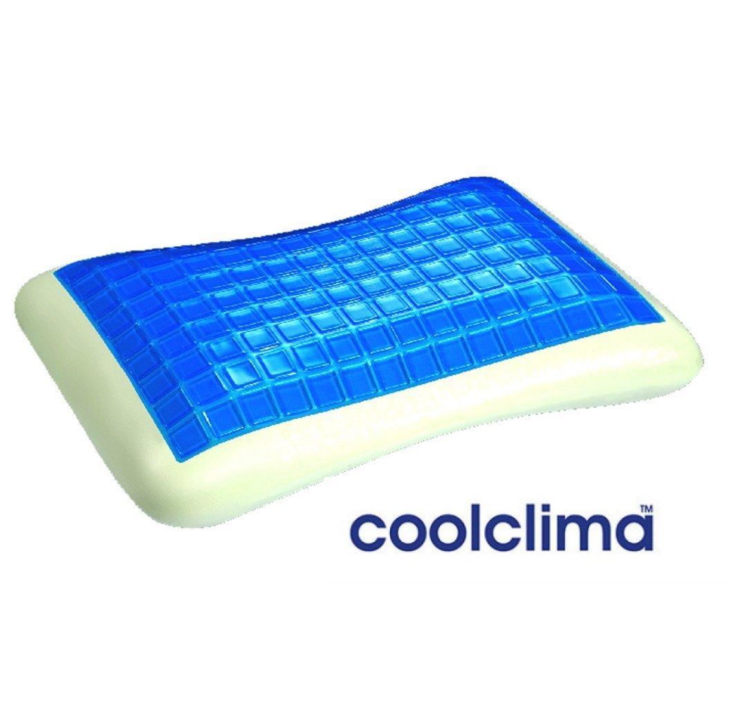 COOL CLIMA GEL REVOLUTION 360° - Luxury Ergonomic Memory Foam & Gel Pillow-Luxury Case for Cool Sleeping-Hypoallergenic Antibacterial- Neck Pain