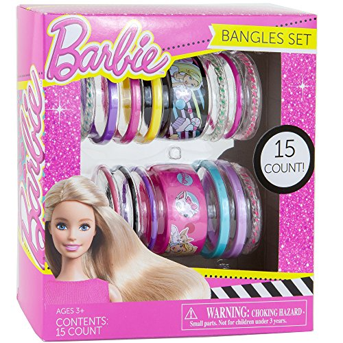 Bangles Bracelets Set 15 Count | Barbie Gift Set Color May Vary. - Barbie Gift