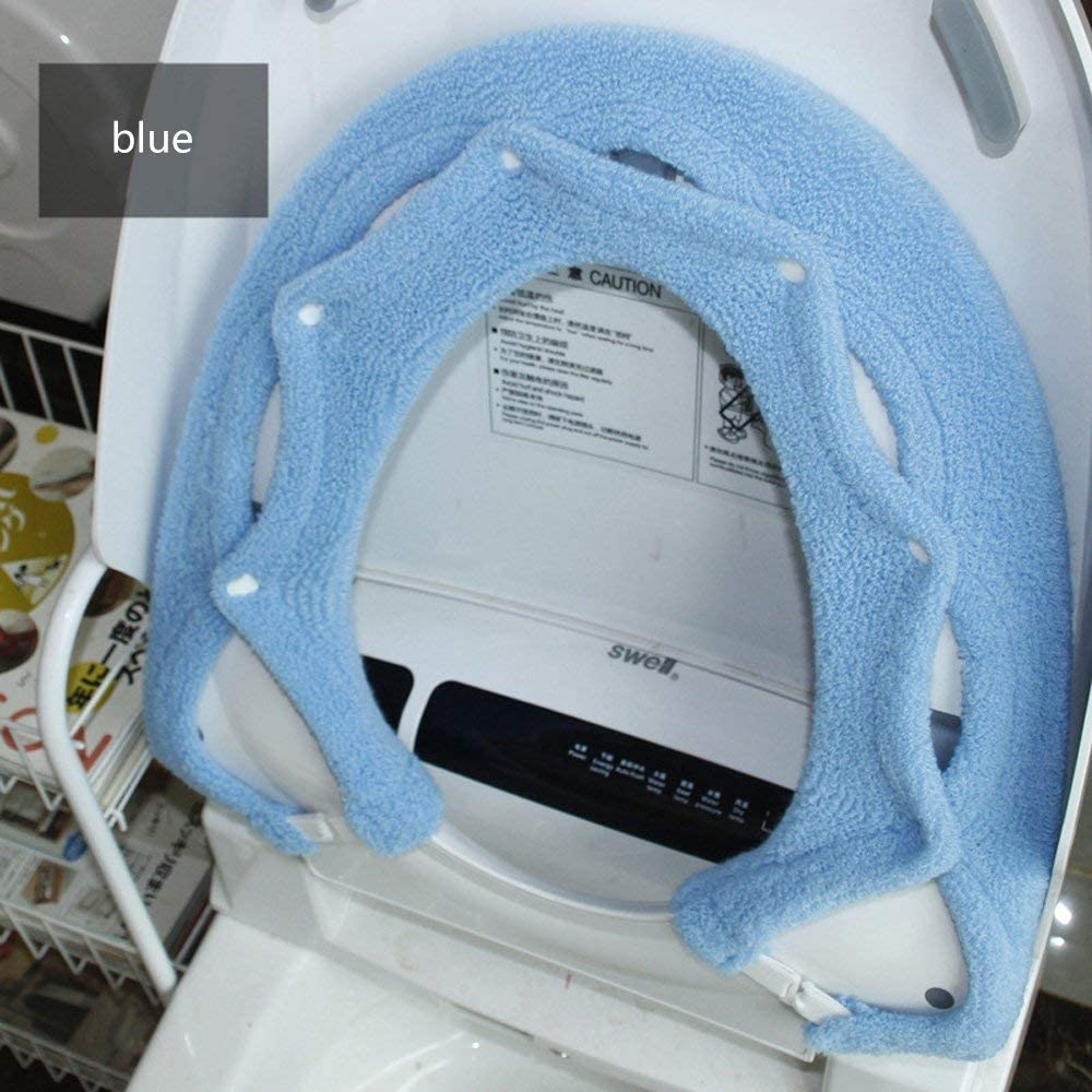 Universal Toilettensitzabdeckung Wc-Sitz Cover Dicker Kissen Pads Antibakteriell Warm Wc Sitzbez/üGe Wc-Sitz Matte Kommt Mit Lustigen Aufklebern Super Warm