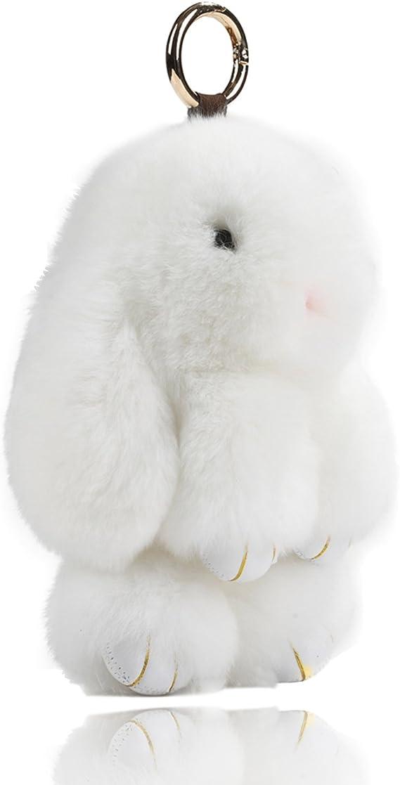 Taxidermy Rabbit Rex Bunny Tail Key Chain animal purse key chain curiosity SALE