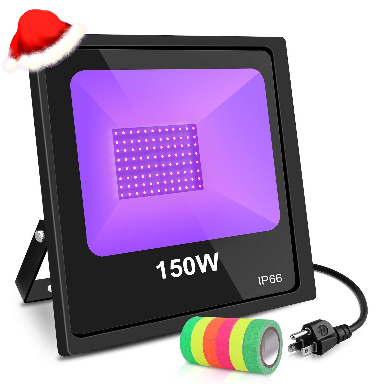 KUKUPPO UV Floodlight,150w UV LED Black Light