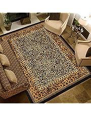 Home Modern vloerkleed Tapijt Karpetten Woonkamer groot vloerkleed Geel bruin zwart luipaard print