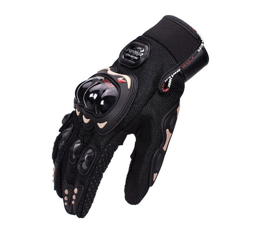Wonzone Motorbike Protective Carbon Fiber Powersports Off-Road Racing Cycling Motorcycle Full Finger Motocross Motor Gloves (Black, X-Large)