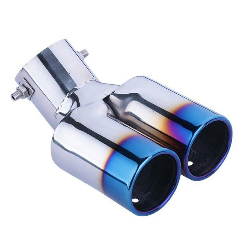 VORCOOL in acciaio inox tubo di scarico a doppia estremit/à stile curvo per auto