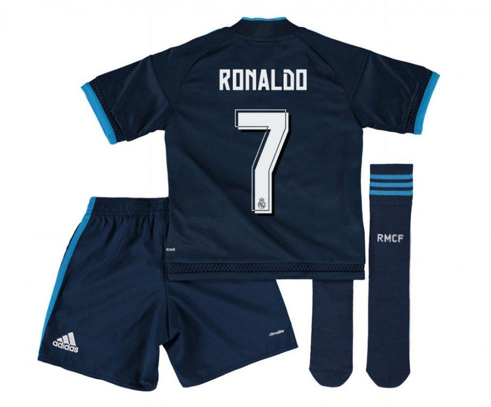 2015-2016 Real Madrid Third Mini Kit (Ronaldo 7) B077VQHR57Navy 3-4 Years