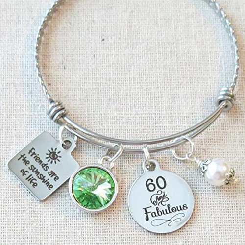 60th BIRTHDAY Gift For Her Milestone August Birthday Gifts Friend 60 And Fabulous