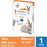 Hammermill Fore Multi-Purpose 20lb Copy Paper, 11 x 17, 1 Ream, 500 Sheets, Made in USA, Sustainably Sourced From…
