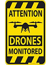 Signalisation - Attention Drones Monitored - Gr. Ca. 25cm X 40cm - 309887