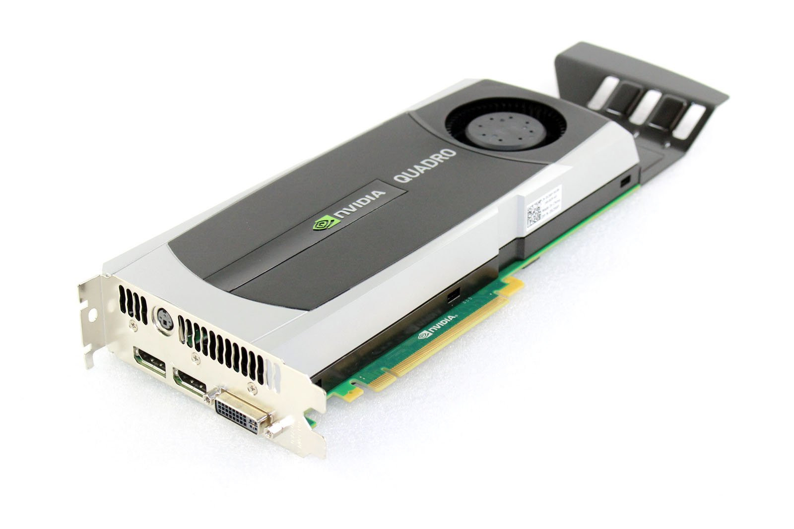 HP 616078-001 NVIDIA Quadro 6000 PCIe graphics card - With 6.0GB GDDR5 GPU memory, max resolution 2560x1600, max power consumption 204Watt, one Dual Link DVI-I and two DisplayPorts connections by NVIDIA (Image #1)