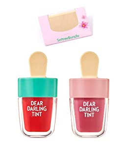 SoltreeBundle Dear Darling Water Tint 4.5g 2 Color Set with SoltreeBundle Natural Hemp Paper 50pcs