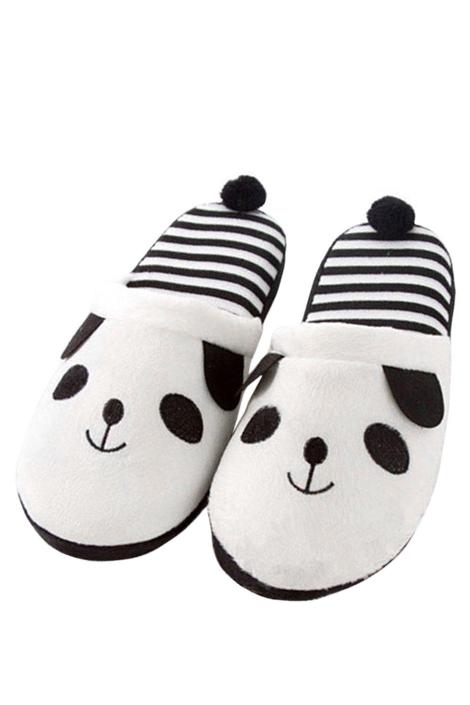 Coppie Donne Uomini Amanti del Fumetto Panda Modello Inverno Camera da Letto Interni Pantofole Scarpe Taglia 40-41,Brown White  Bianco 40-41
