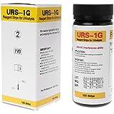 Biuuu 100ストリップ URS-1G尿テストストリップ グルコース試験紙 酸ベース試験紙 尿検査 アンチVC干渉機能