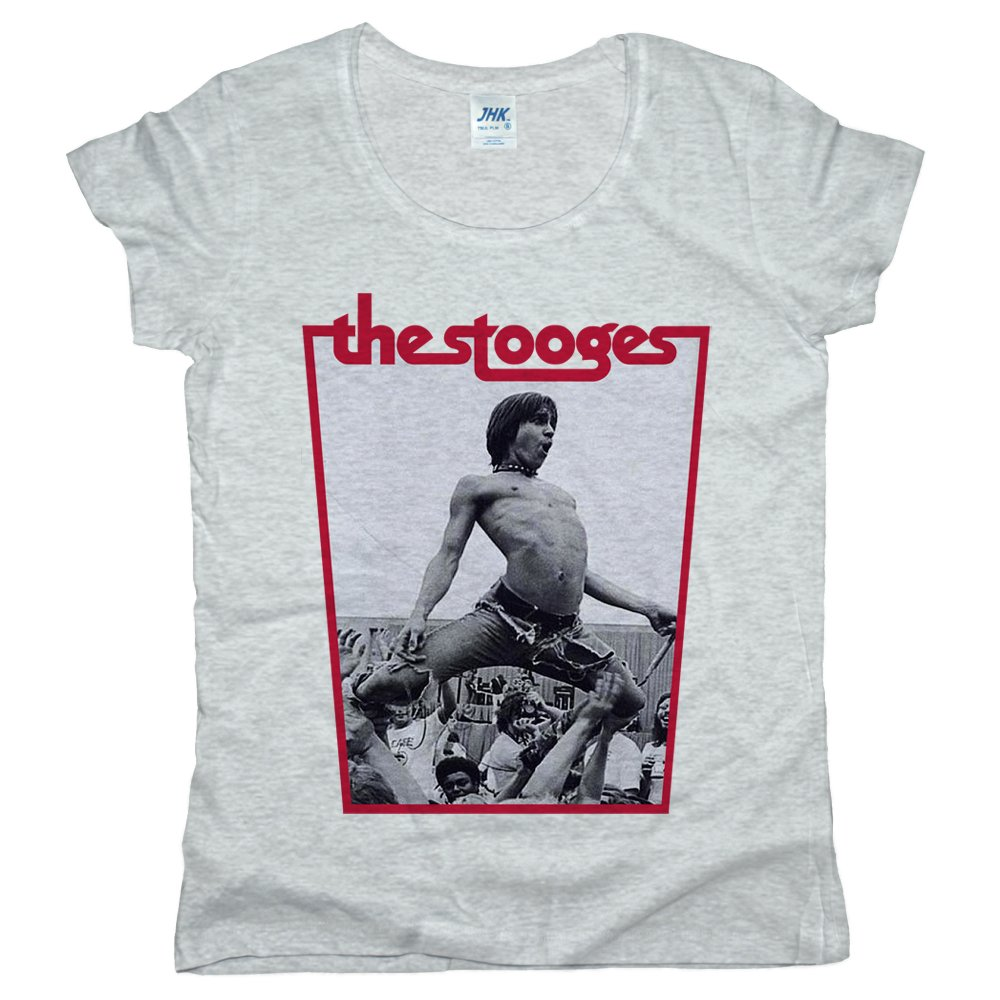 PrintPro The Stooges Iggy Pop Women JHK Palma T-Shirt