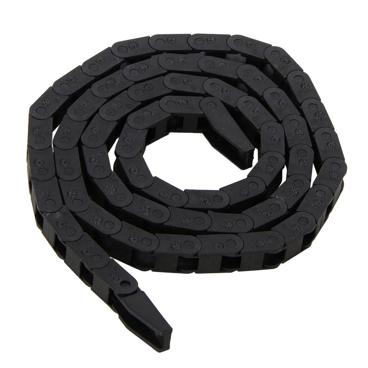 Black CNC Machine Tool 77mm Mayitr Plastic Nylon Cable Carrier Drag Chain Nested Wire Carriers Transmission Chains Towline