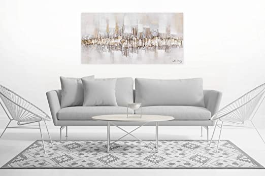 Kunstloft® Cuadro en acrílico City Outline 120x60cm ...