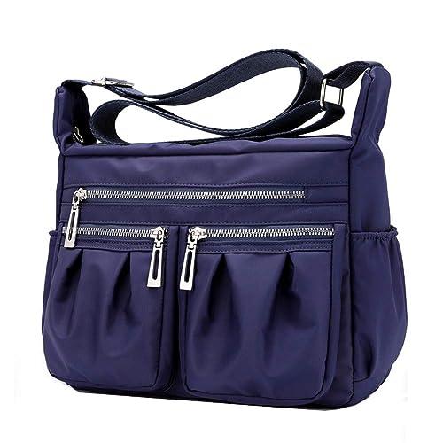 fbdc388f7 Moonbuy - Bolso al hombro de nailon para mujer M, color Azul, talla M:  Amazon.es: Zapatos y complementos