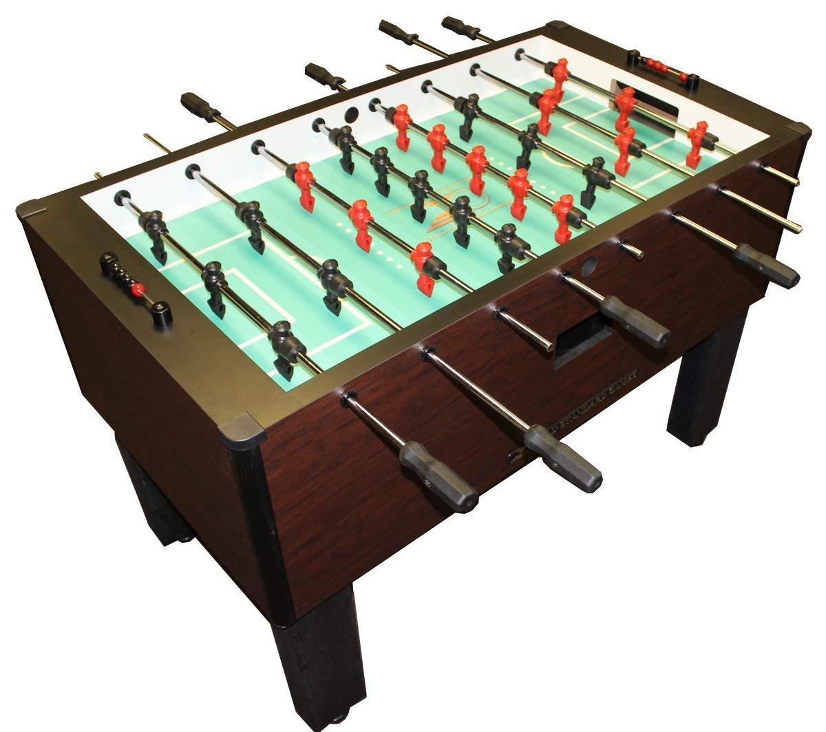 ゴールド標準Proテーブルサッカーテーブルゲームホーム(マホガニー( QPQステンレススチールrods-blackハンドル) ) B00XUX67BK