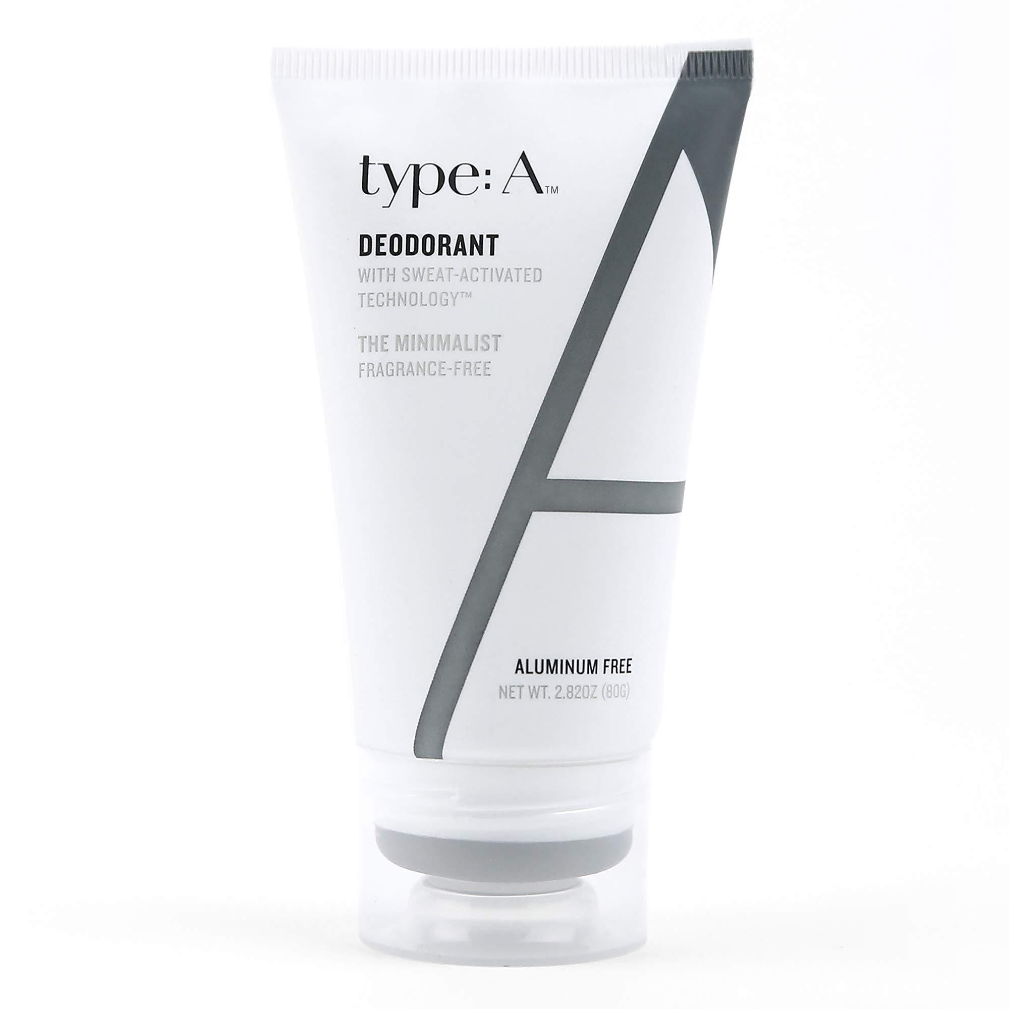 type:A Deodorant - Aluminum Free, Paraben Free, 100% Non-Toxic, Non-Irritating, Clothing-Friendly - Travel-Friendly 2.8 oz (The Minimalist)