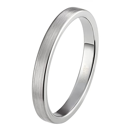 Tungsten wedding bands for women 3mm
