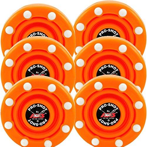 6 Pack of IDS Roller Hockey Puck Pro Shot (Blaze Orange) (Best Roller Hockey Puck)