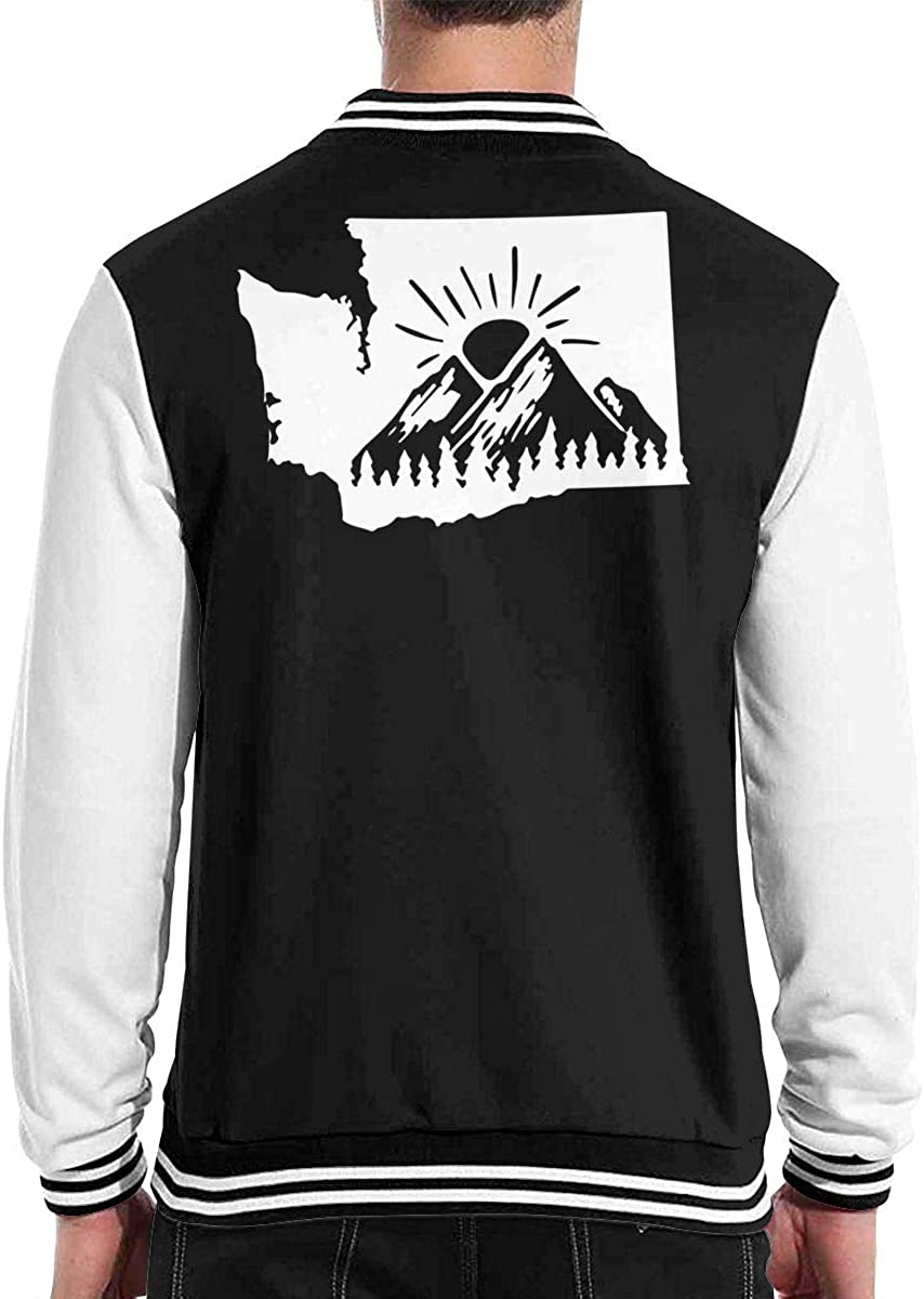 Washington State Sunrise Baseball Jacket Uniform Men Women Varsity Premium Jacket Overcoat