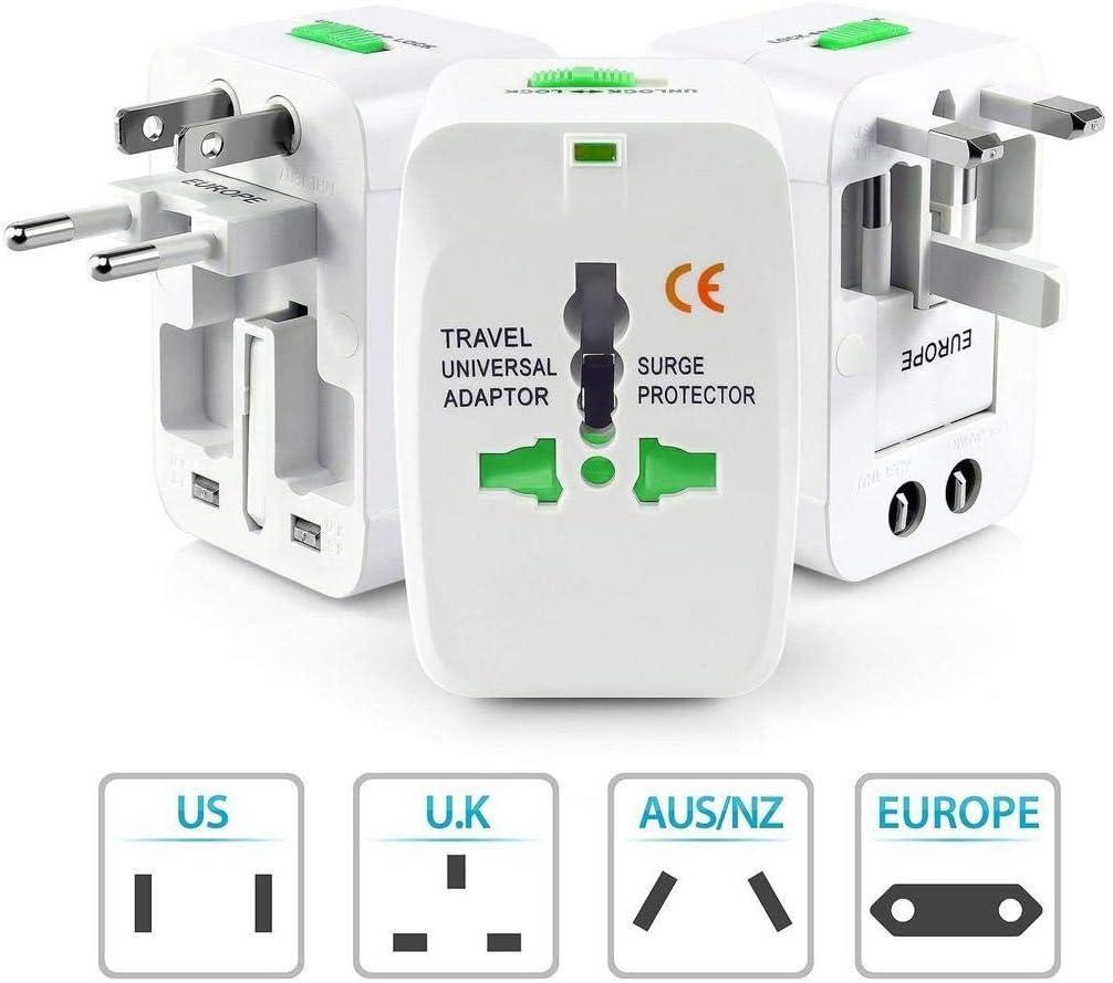 Timesok Adaptador de Viaje Giratorio Mundial de US//UK//EU//AU Plug PC para tel/éfono m/óvil Accesorios