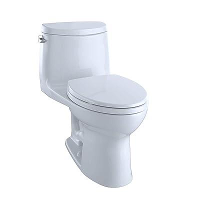 Toto MS604114CEFG#01 UltraMax II One-Piece Elongated 1.28 GPF Universal Height Toilet