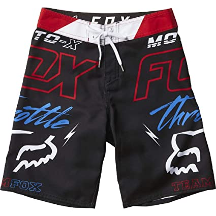 black 25 Throttled Racing Fox Boardshorts Big Boys' m8wnN0v