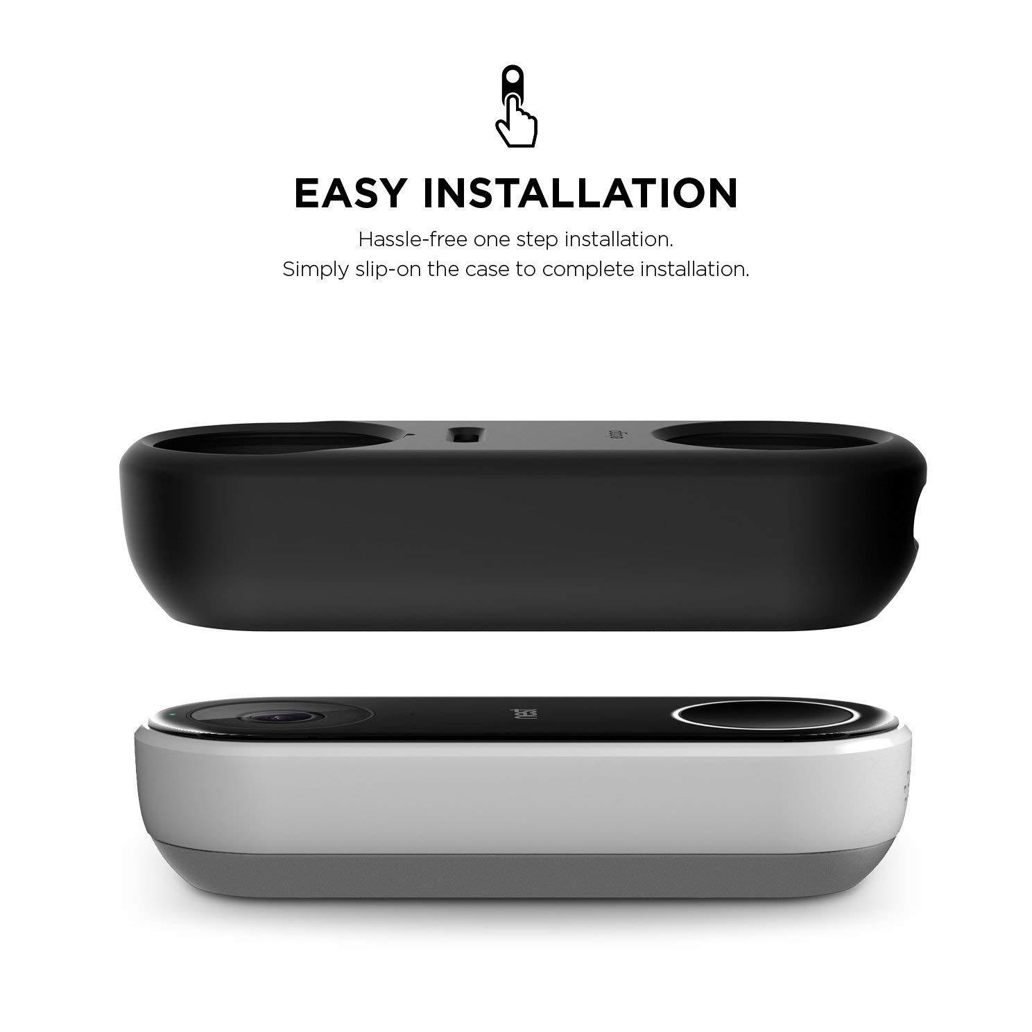 Noir en Attente de Brevet elago /Étui pour Nest Hello Compatible avec La Vision Nocturne Mat/ériau Durable R/ésistant aux UV