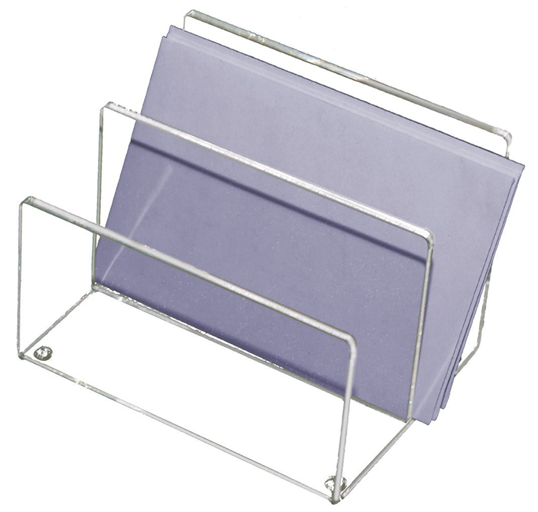 Mega Stationers Letter Organizer 2 Slots, High Quality Clear Acrylic, Neat and Compact, Great For Home & Office Use!