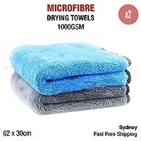 1000GSM Microfibre Car Drying Towel Cleaning Cloth Microfiber Dish Glass 62x30cm