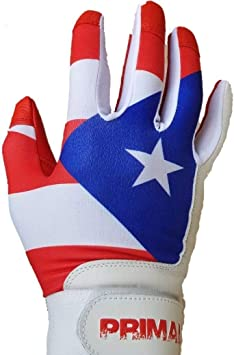 PrimalBaseball Youth Puerto Rico Baseball Batting Gloves for Sports Players