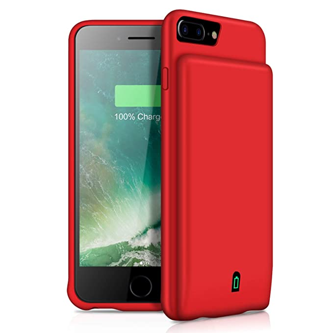 best sneakers 27fc6 3b7c0 YISHDA Battery Case for iPhone 6/7/8, 4500mAh Portable Protective Charging  Case for iPhone 8/7/6S/6 (4.7 inch) Rechargeable Extended Battery Charger  ...
