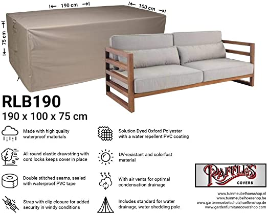 Raffles Covers NW-RLB190Straight - Funda para sofá de jardín (190 x 100 x 75 cm): Amazon.es: Jardín