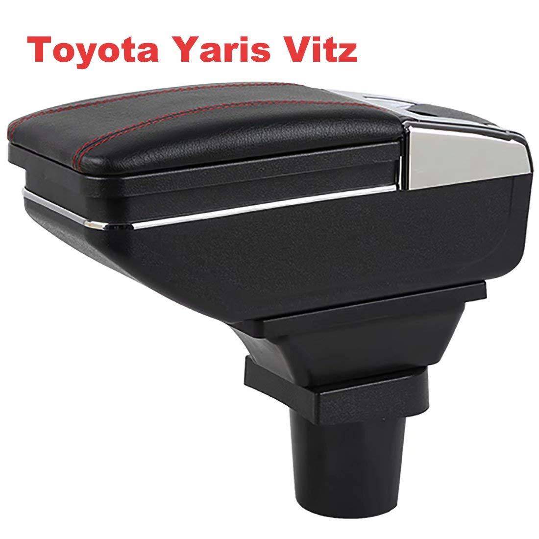 Per Yaris Vitz 1998-2005 Scatola braccioli Console di stoccaggio con posacenere e portabicchieri