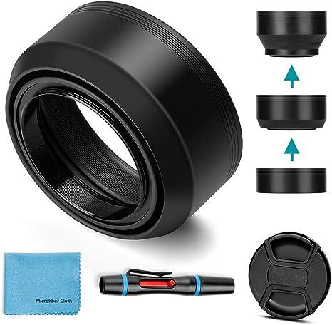 Sony Alpha a58 Lens Cap Center Pinch Microfiber Cleaning Cloth. + Lens Cap Holder 62mm