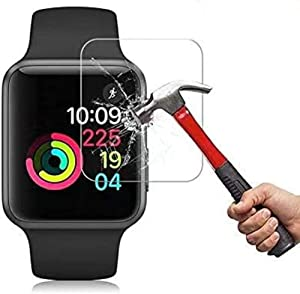 2Pack for Apple Watch 42mm Tempered Glass Screen Protector, [9H Hardness] [Scratch Resistant] [Anti-Fingerprint] [Easy Installation] HD Clear Screen Protector for Apple Watch 42mm Series 3/2 / 1