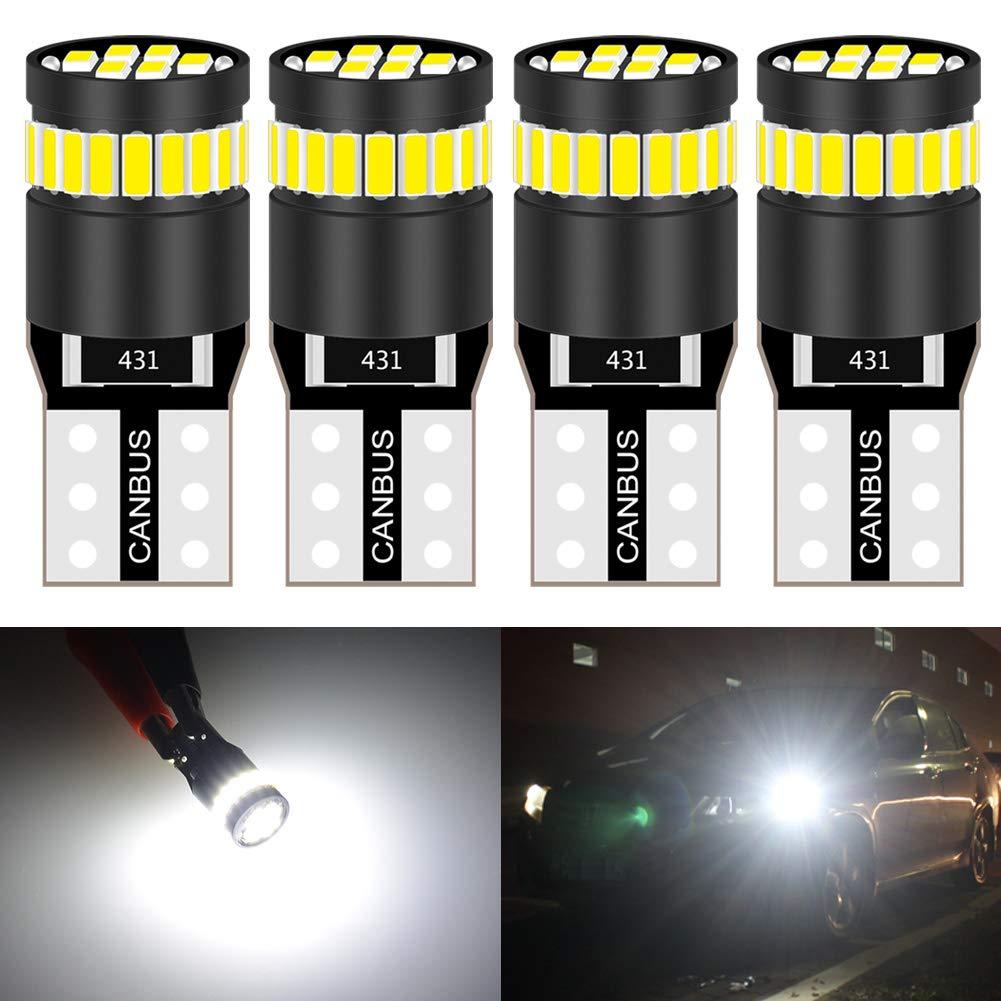 KaTur 36mm Festoon C5W Led Bulbs 6000K White Light Super Bright Chipsets Canbus Error Free for 6418 6461 6486X 6411 6418 6451 Interior Dome License Plate Door Lights 4pcs,White