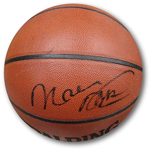 (Moses Malone Hand Signed Autographed I/O Full Size Basketball JSA DNA)