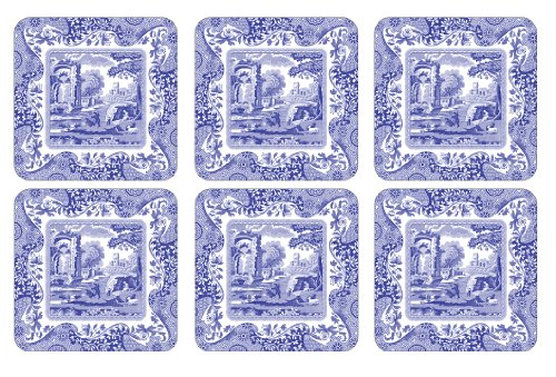(Spode Blue Italian Coasters, Set of)